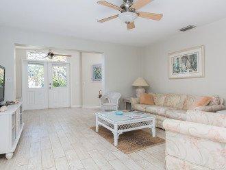 living room to double door opening