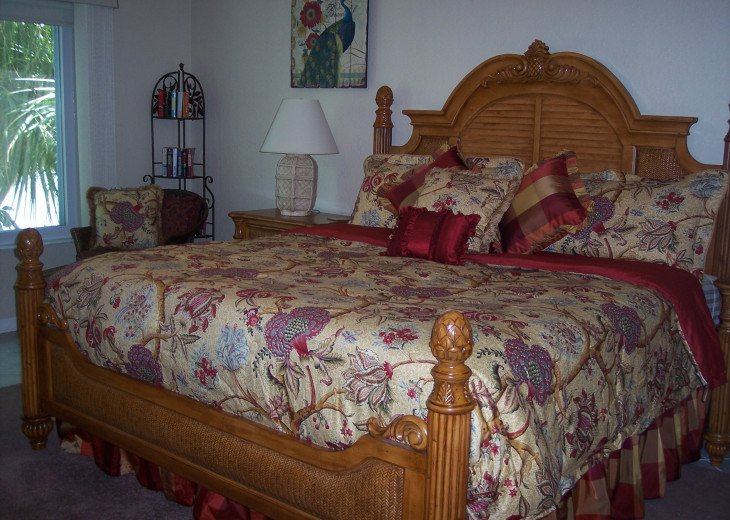 Spacious master suite with king bed