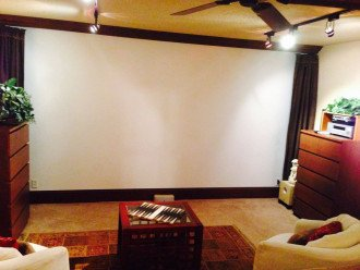 Wall-sized projector TV screen