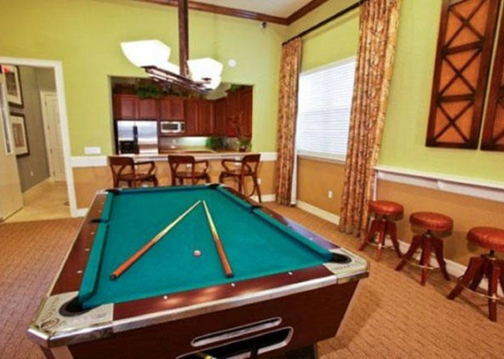 clubhouse game room pool table