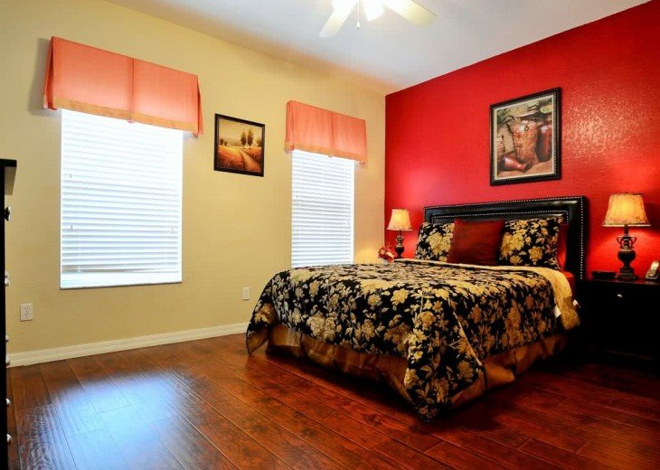 the 2nd master bedroom with queen bed and inside bathroom on 2nd floor