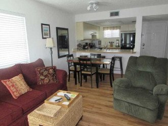 Open living area with queen sofa sleeper