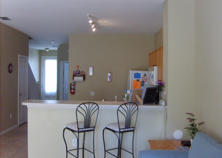 Open kitchen , well stocked , watch TV while you cook !