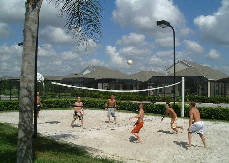 This volleyball court is my favorite . Popular with the teams who stay with us .