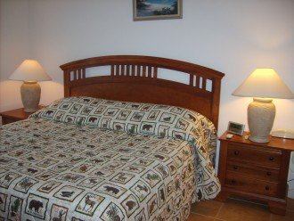 Master Bedroom (king size bed) with a private full bathroom