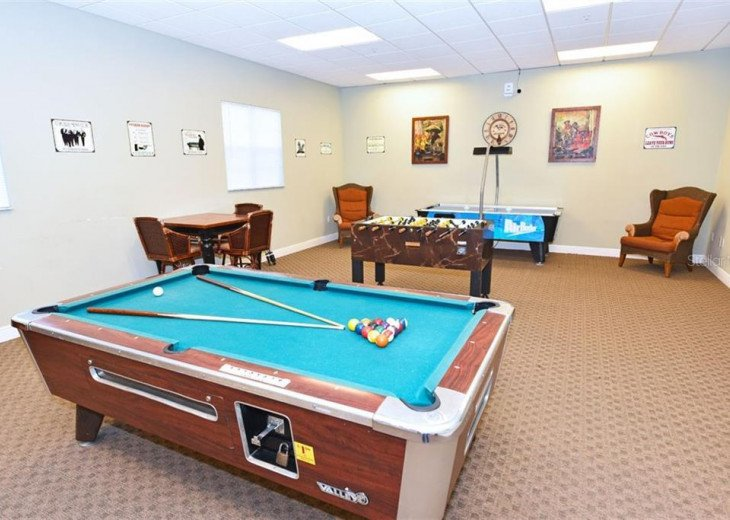 Clubhouse game room.