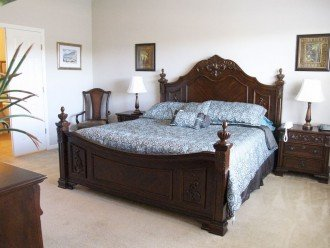Master suite with king bed and inside bathroom