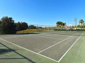 community tennis court.