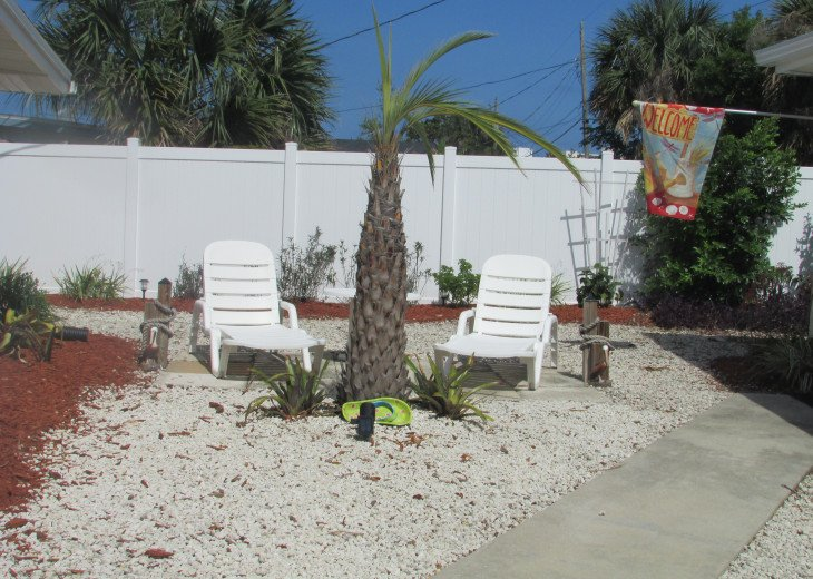 Private seating area to enjoy the sun.