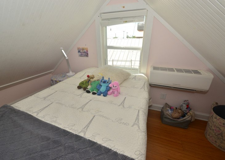 second bedroom upstairs, full size bed, perfect for kids