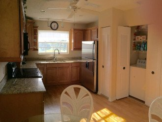 up to date appliances and granite counters.