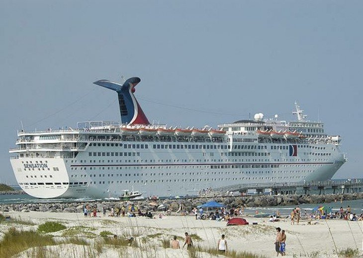 One of the large cruise lines based 1 mile north at Port Canaveral