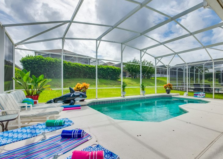 $89 SALE AFFORDABLE FLORIDA VACATION RENTAL VILLA WITH A POOL NEAR DISNEY #3