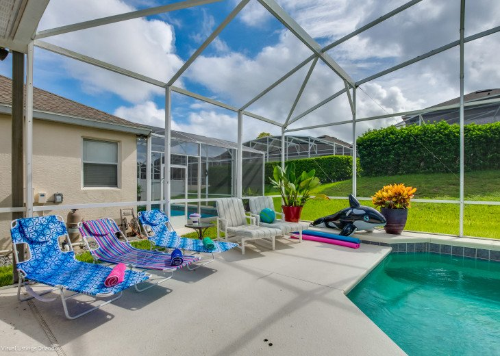 $89 SALE AFFORDABLE FLORIDA VACATION RENTAL VILLA WITH A POOL NEAR DISNEY #37
