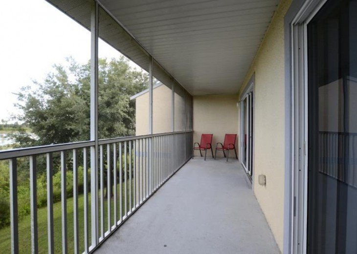 screened patio with access from master bedroom