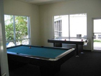Pool table and air hockey at club house