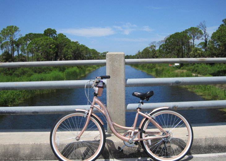 The area is perfect for a leisurely cycle