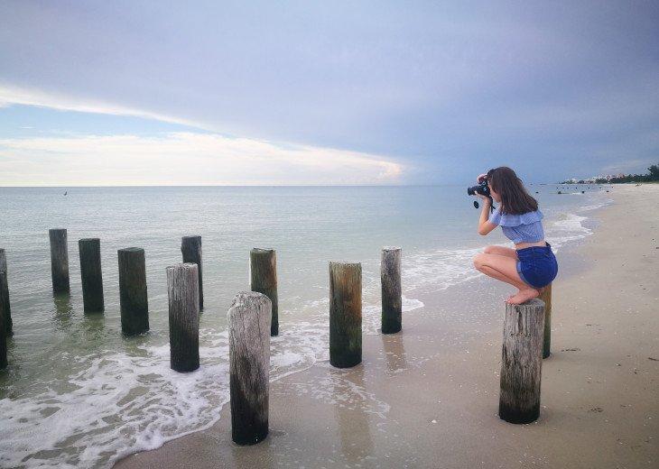 Gulf beaches provide exciting photos