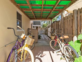 We provide bicycles for riding to the beach or Frenchy's Bar and Grill.