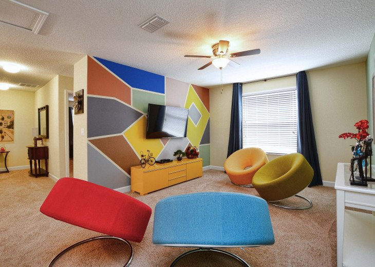 Luxurious! 5 min to Disney! South facing pool/Gameroom/Baby Gear #33