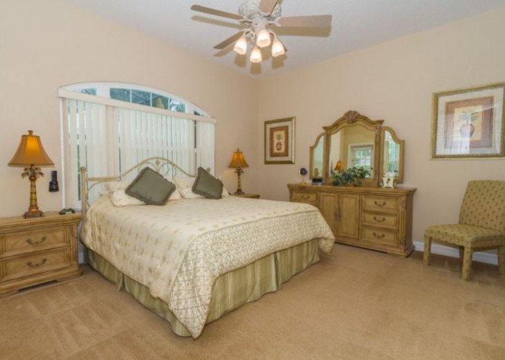 Master Bedroom with King size bed and top of the line pillow top mattress