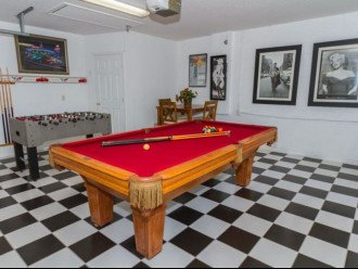 Game Room (air conditioned) with full size pool table & table football
