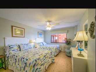 Second bedroom with 2 double beds