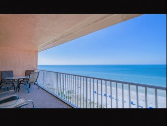 Balcony view looking south down beach