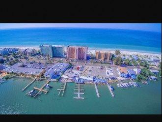 Sand Castle in center on gulf side,restaurants on inter coastal