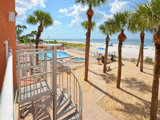 AMAZING Sand Castle II #206 GULF FRONT Spiral staircase to pool & beach #1