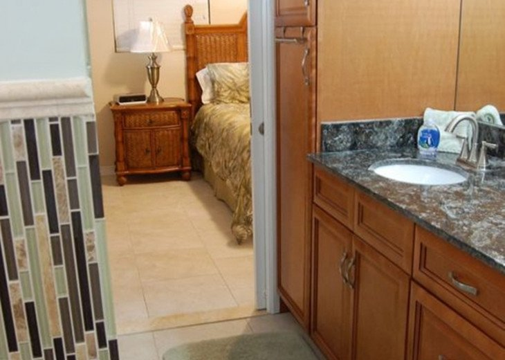 Master Bathroom with Double Sinks and Shower