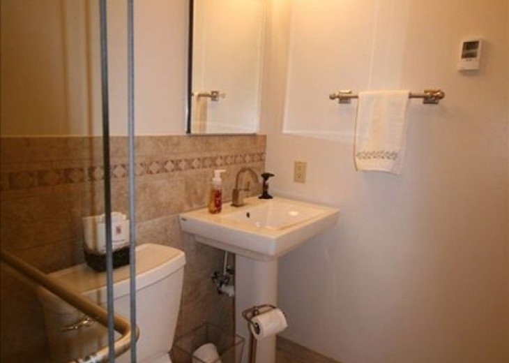 2nd bathroom pedestal sink and American Standard Champion 4 toilet