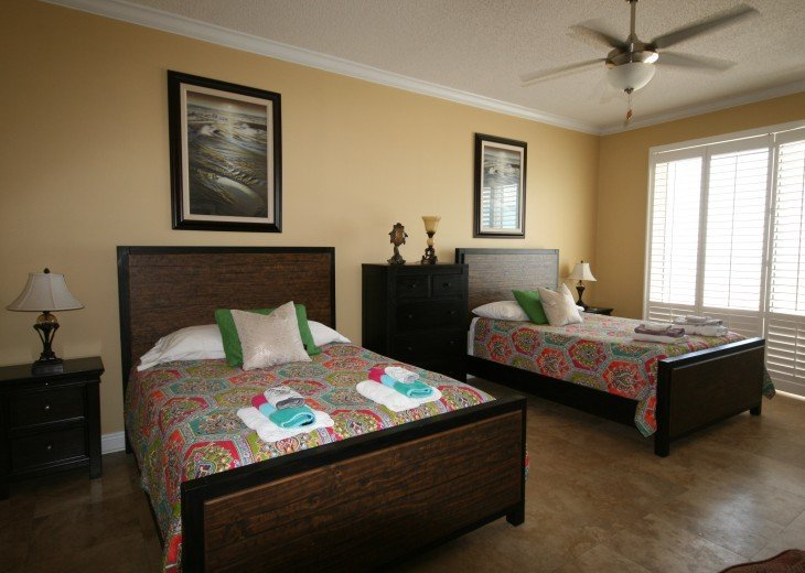 Master Bedroom has 2 queen beds and is very spacious