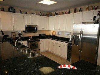 Kitchen. Black granite countertops