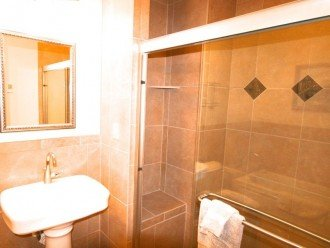 Large walk-in shower in master bathroom