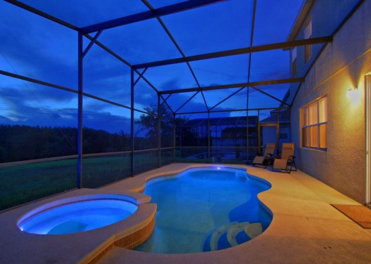 Luxury 8BR MOVIE THEATER-W/Solar Heated Oversize Pool/Spa/Near Disney/forestView #2