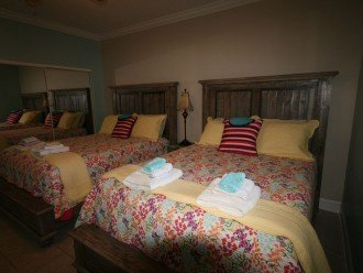 Two queen size beds in 2nd bedroom