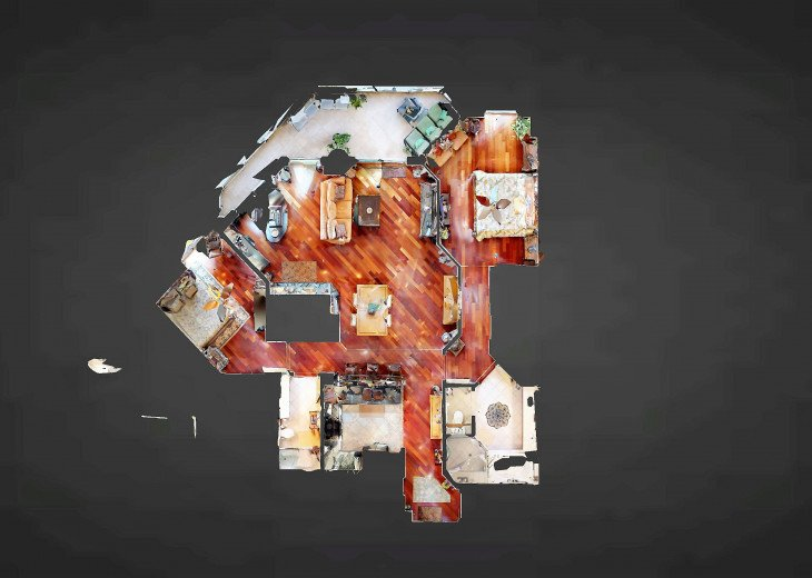 Unit Floor Plan (Master Walk-In Closet & Washer/Dryer Utility Room Not Shown)