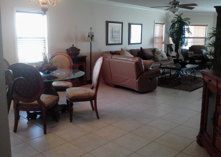 View of Gulf of Mexico from Kitchen, dining, living room & Master bedroom