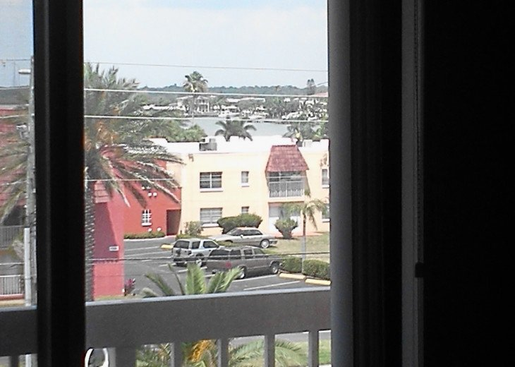Glimpse of Intracoastal waterway from Bedrooms 2 and 3