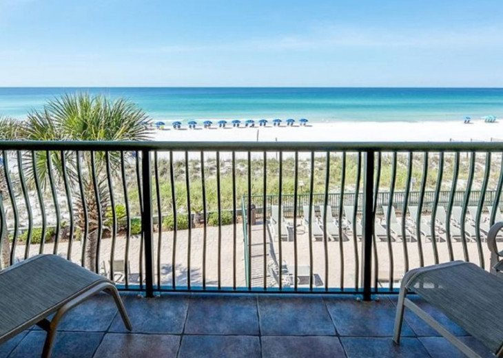 Direct gulf view, exceptional BEACH FRONT condo, quiet, low rise complex w/pool #2