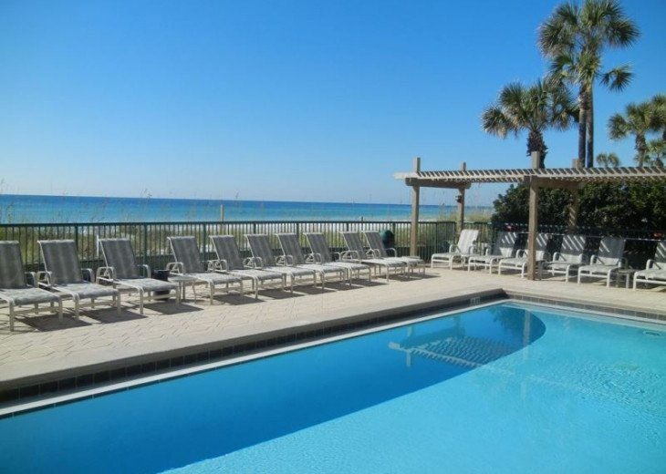 Direct gulf view, exceptional BEACH FRONT condo, quiet, low rise complex w/pool #16