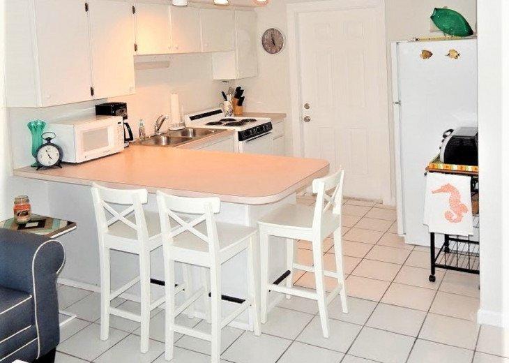 Cottage B- Kitchen / Bar Seating View