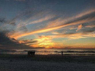 Beach Sunset View Steps From Property Taken Nov 2018