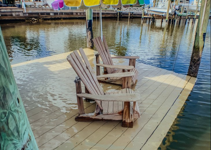 Lower the dock in the water and just relax!