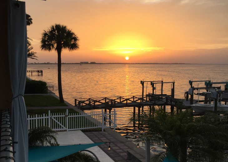 One of many beautiful sunsets from your balcony and dock!