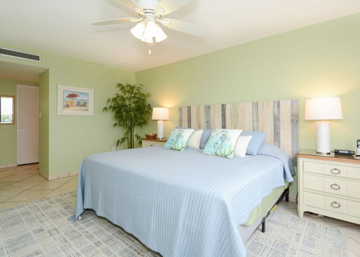 Master Bedroom with Hunter Ceiling Fan
