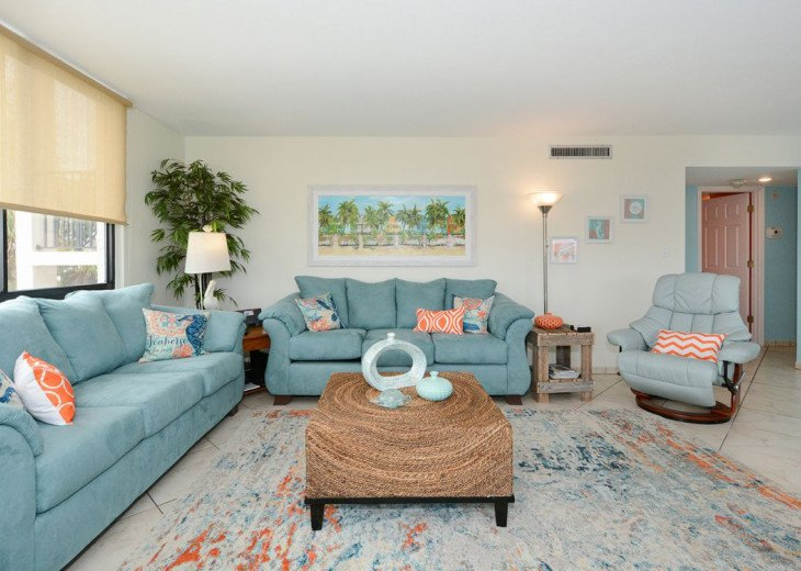Living Room has One Queen Sleep Sofa