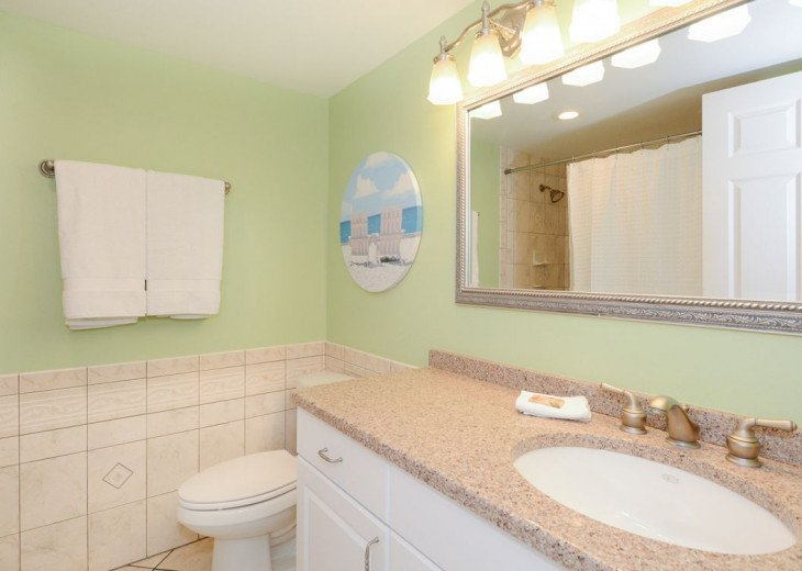 Ensuite Bathroom with Makeup Mirror and Programmable Safe