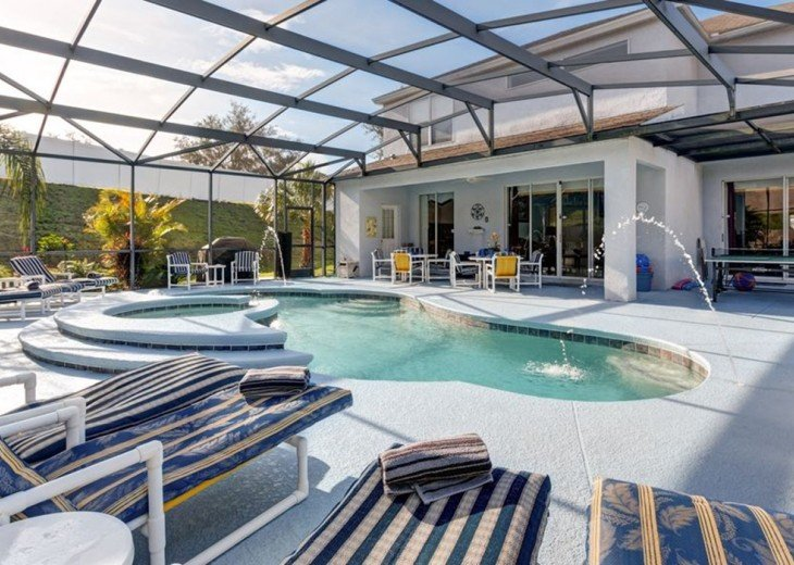 Stunning 6 BR/6 BA Pool and A/C Games Room Villa #3